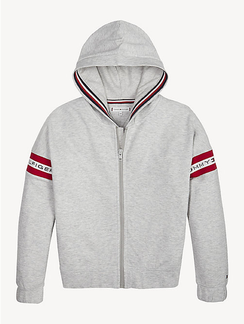 a5c3e0c79dd TOMMY HILFIGERZip-Thru Logo Tape Hoody. From £55.00