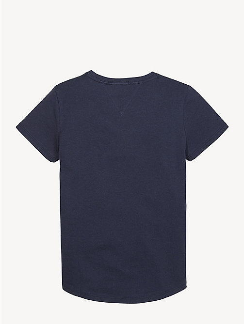TOMMY HILFIGER Essential Organic Cotton Logo T-Shirt - BLACK IRIS - TOMMY HILFIGER Tops & T-shirts - detail image 1