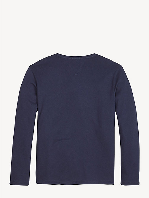 TOMMY HILFIGER Icon Logo Long Sleeve T-Shirt - BLACK IRIS - TOMMY HILFIGER Tops & T-shirts - detail image 1