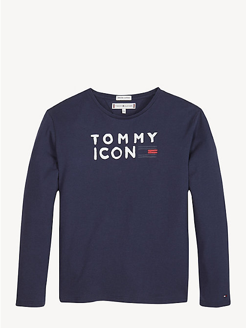 TOMMY HILFIGER Icon Logo Long Sleeve T-Shirt - BLACK IRIS - TOMMY HILFIGER Tops & T-shirts - main image