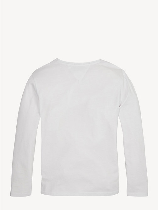 TOMMY HILFIGER Icon Logo Long Sleeve T-Shirt - BRIGHT WHITE - TOMMY HILFIGER Tops & T-shirts - detail image 1