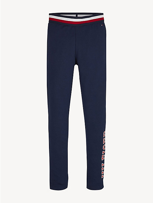 TOMMY HILFIGER Essential Logo Leggings - BLACK IRIS - TOMMY HILFIGER Trousers, Shorts & Skirts - main image