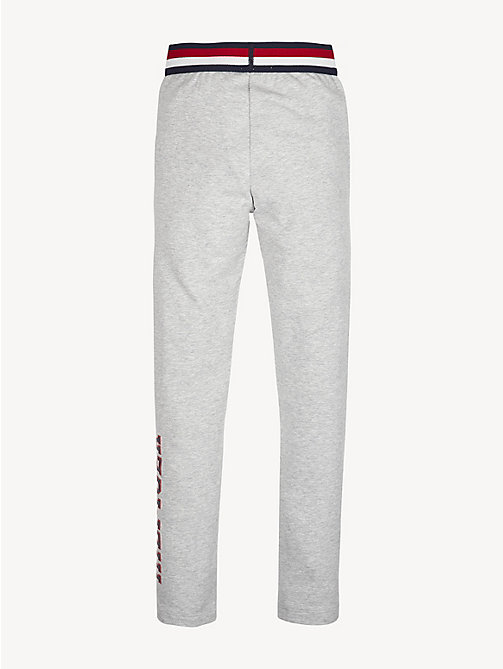 TOMMY HILFIGER Essential Logo Leggings - LIGHT GREY HTR - TOMMY HILFIGER Trousers, Shorts & Skirts - detail image 1