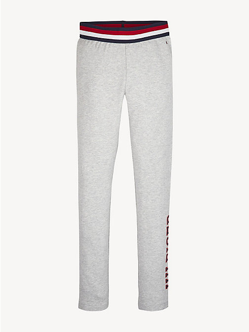 TOMMY HILFIGER Essential Logo Leggings - LIGHT GREY HTR - TOMMY HILFIGER Trousers, Shorts & Skirts - main image