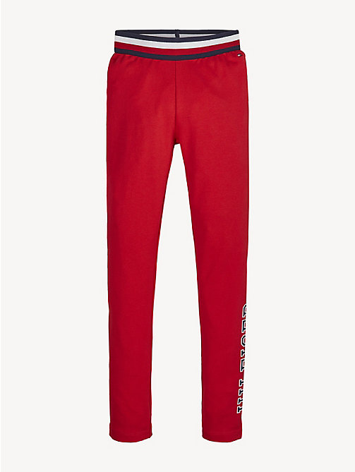 TOMMY HILFIGER Essential Logo Leggings - TRUE RED - TOMMY HILFIGER Trousers, Shorts & Skirts - main image