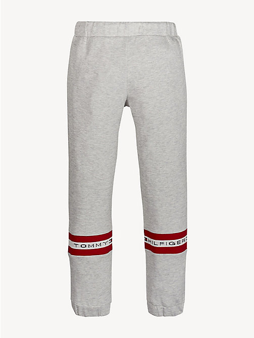 TOMMY HILFIGER Logo Tape Joggers - LIGHT GREY HTR - TOMMY HILFIGER Trousers, Shorts & Skirts - detail image 1