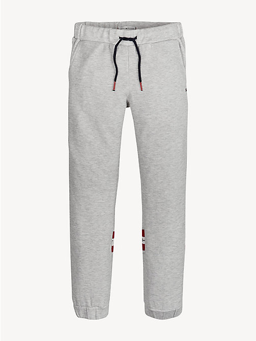 TOMMY HILFIGER Jogginghose mit Logo-Tape - LIGHT GREY HTR - TOMMY HILFIGER Hosen, Shorts & Röcke - main image