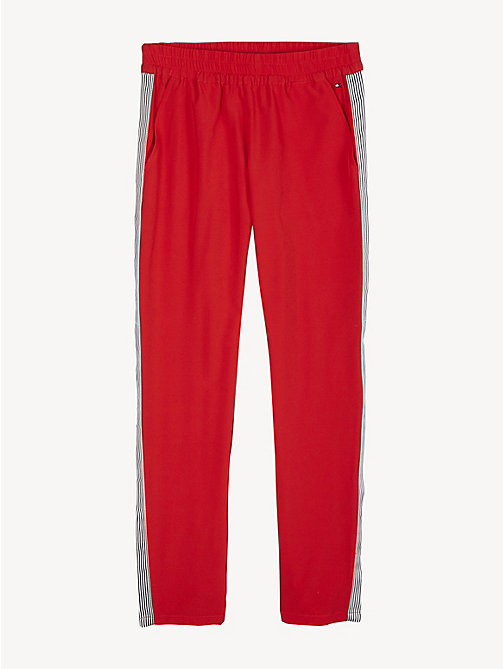 TOMMY HILFIGER Stripe Snap-Button Trousers - TRUE RED - TOMMY HILFIGER Trousers, Shorts & Skirts - detail image 1