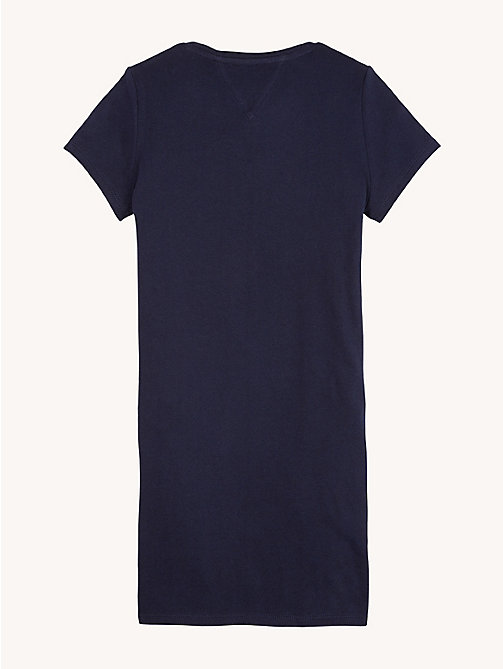TOMMY HILFIGER Essential Logo Pure Cotton Dress - BLACK IRIS - TOMMY HILFIGER Dresses - detail image 1