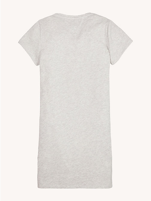 TOMMY HILFIGER Essential Logo Pure Cotton Dress - EXTRA LIGHT GREY HEATHER - TOMMY HILFIGER Dresses - detail image 1