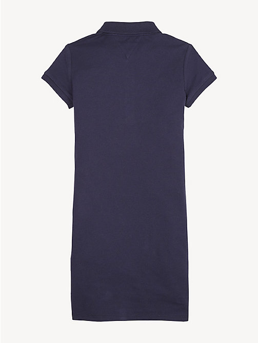 TOMMY HILFIGER Essential Polo Dress - BLACK IRIS - TOMMY HILFIGER Dresses - detail image 1