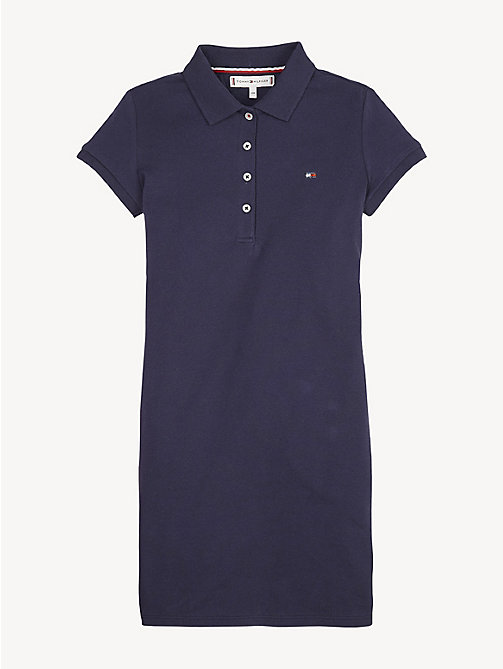 TOMMY HILFIGER Essential Polo Dress - BLACK IRIS - TOMMY HILFIGER Dresses - main image