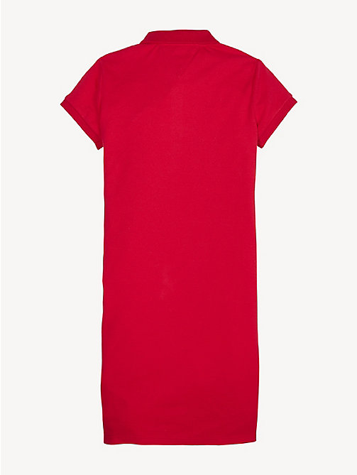 TOMMY HILFIGER Essential Polo Dress - TRUE RED - TOMMY HILFIGER Dresses - detail image 1