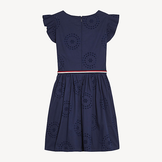 64ef9d55d85ccb Frill Sleeve Broderie Anglaise Dress. TOMMY HILFIGER