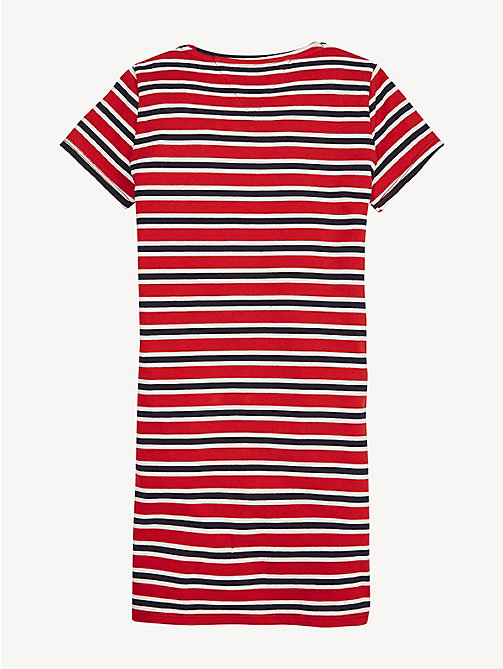 TOMMY HILFIGER Robe T-shirt rayée - TRUE RED - TOMMY HILFIGER Robes - image détaillée 1