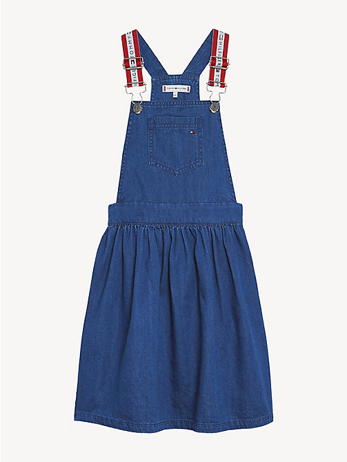 TOMMY HILFIGER Denim Pinafore Dress - DENIM - TOMMY HILFIGER Dresses - main image