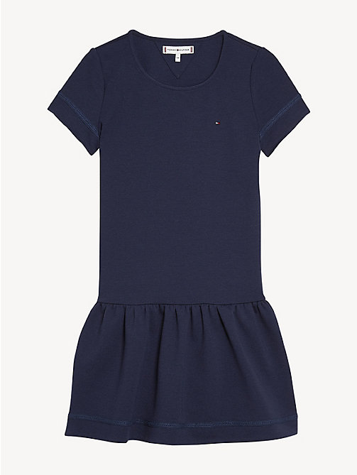 TOMMY HILFIGER Dropped Waist Lace Trim Dress - BLACK IRIS - TOMMY HILFIGER Dresses - detail image 1