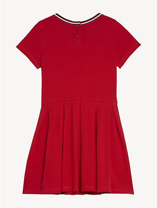 TOMMY HILFIGER Pleated Knit Dress - TRUE RED - TOMMY HILFIGER Dresses - detail image 1