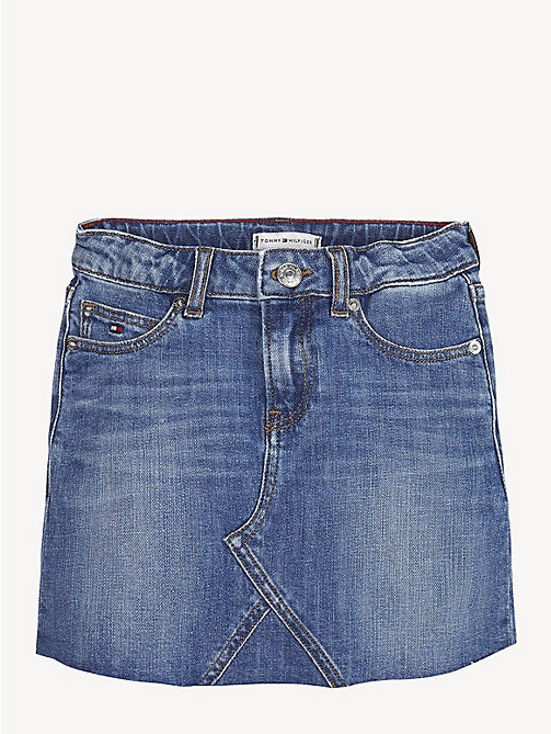 TOMMY HILFIGER Stretch Cotton Denim Skirt - FIELD AUTHENTIC MID COMFORT - TOMMY HILFIGER Trousers, Shorts & Skirts - main image
