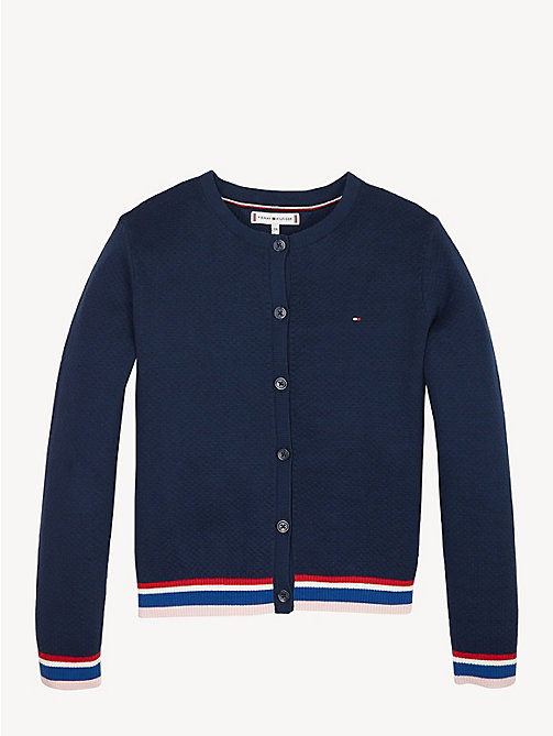 TOMMY HILFIGER Cardigan à rayures Essential - BLACK IRIS - TOMMY HILFIGER Pulls & Gilets - image principale