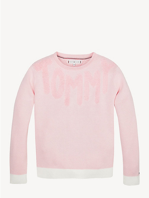 TOMMY HILFIGER Towelling Jumper - ALMOND BLOSSOM - TOMMY HILFIGER Knitwear - main image