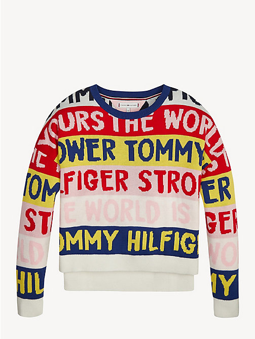 TOMMY HILFIGER Graphic Print Jumper - TRUE RED - TOMMY HILFIGER Knitwear - main image