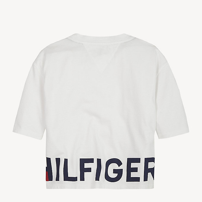 Cropped Fit Sport T Shirt | WHITE | Tommy Hilfiger