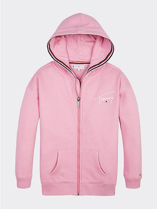 Chubasquero de bebé niña Tommy Hilfiger en rosa con capucha