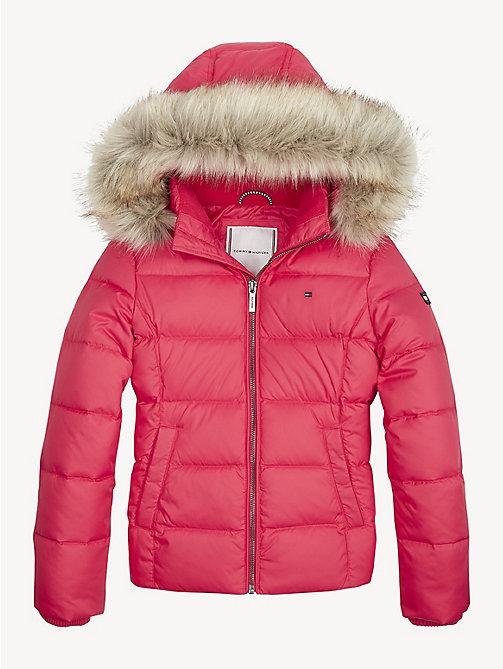 1ed418c4c9f576 red essential daunenjacke für girls - tommy hilfiger