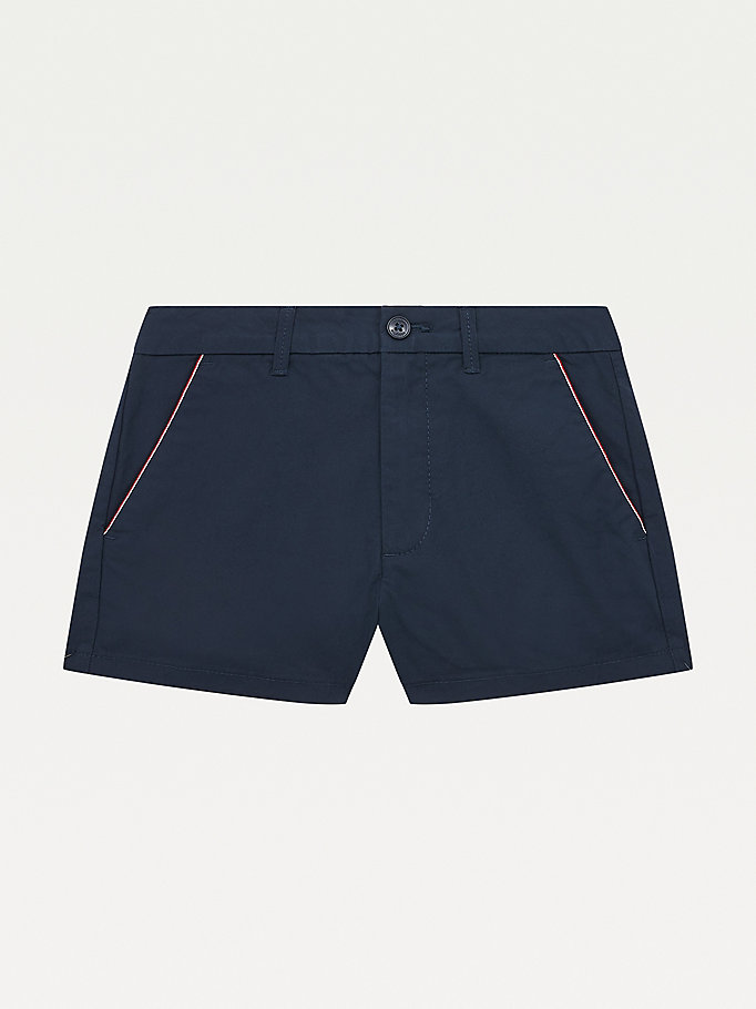 blue essential chino shorts for girls tommy hilfiger
