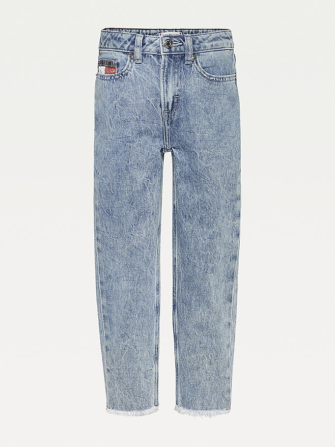 denim high rise tapered jeans for girls tommy hilfiger