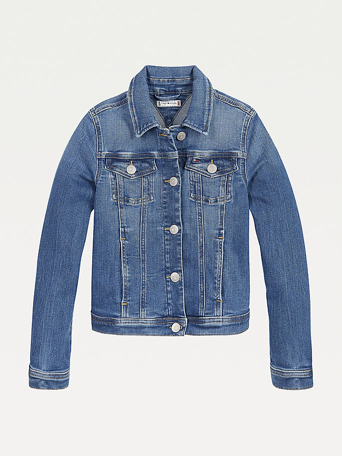 denim denim trucker jacket for girls tommy hilfiger