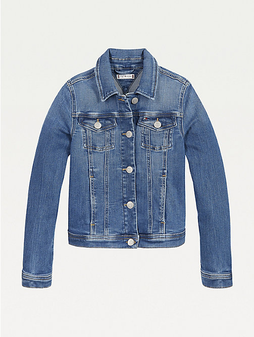 Tommy Hilfiger M/ädchen Girls Trucker Jacket Nembst Jacke