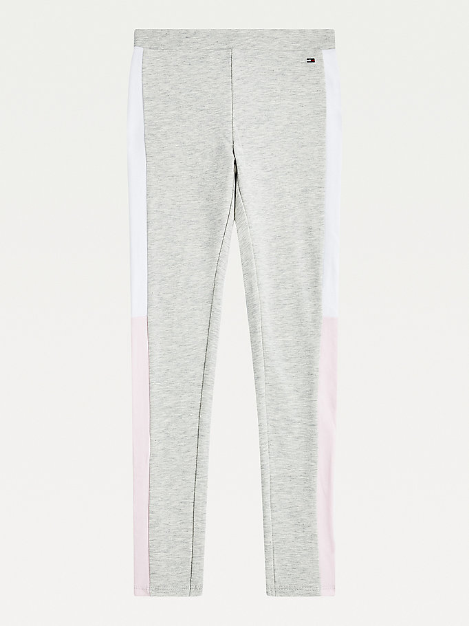 grijs legging met colour-blocking voor girls - tommy hilfiger