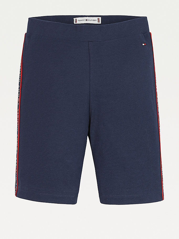 blue essential cycling shorts for girls tommy hilfiger