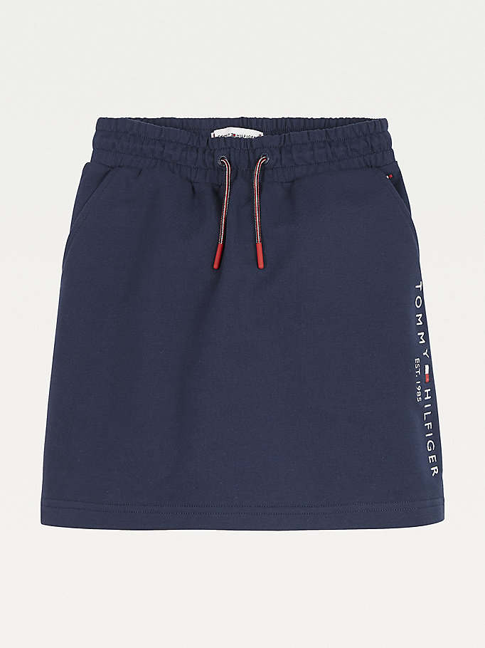 blue essential logo drawstring skirt for girls tommy hilfiger
