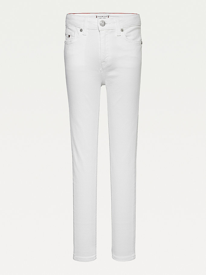 white sylvia skinny white jeans for girls tommy hilfiger
