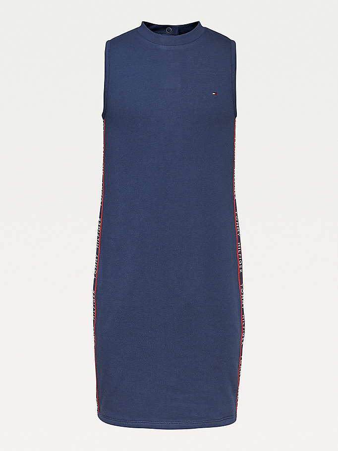 blue sleeveless dress for girls tommy hilfiger