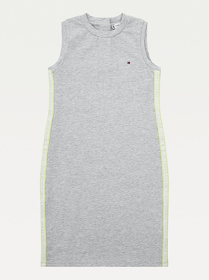 grey sleeveless dress for girls tommy hilfiger