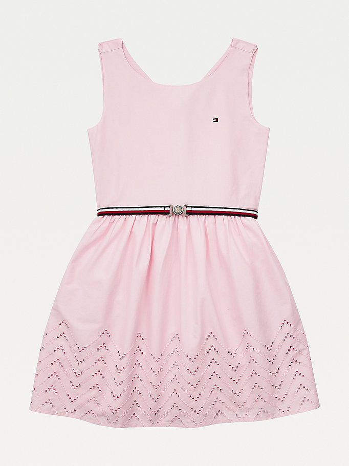pink ruffle dress for girls tommy hilfiger