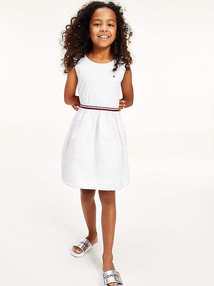 white ruffle dress for girls tommy hilfiger