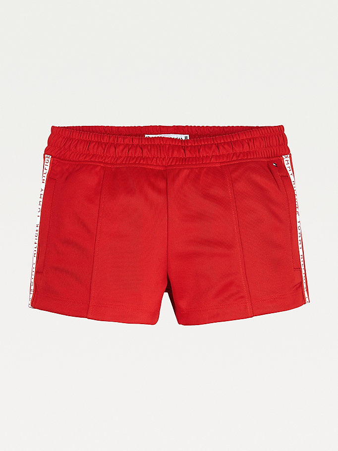 red logo tape tracksuit shorts for girls tommy hilfiger
