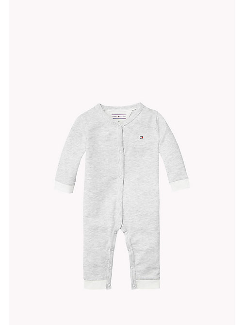 Heathered Coverall - GREY HEATHER - TOMMY HILFIGER Babies - main image