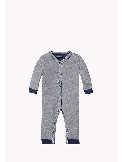 Heathered Coverall - NAVY BLAZER - TOMMY HILFIGER Babies - main image
