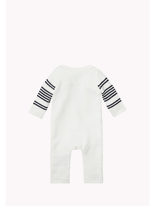 Striped Coverall - MARSHMALLOW/NAVY BLAZER - TOMMY HILFIGER Babies - detail image 1