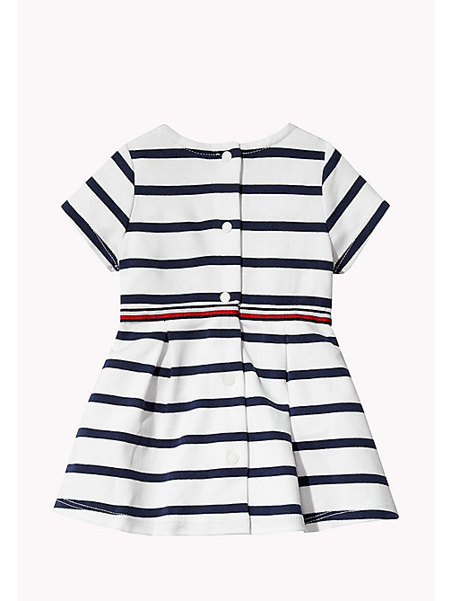 TOMMY HILFIGER Cotton Stripe Dress - BLACK IRIS - TOMMY HILFIGER Girls - detail image 1