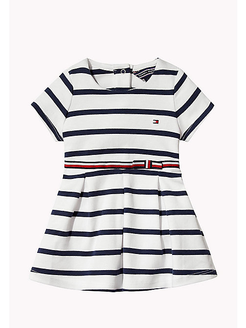TOMMY HILFIGER Cotton Stripe Dress - BLACK IRIS - TOMMY HILFIGER Girls - main image