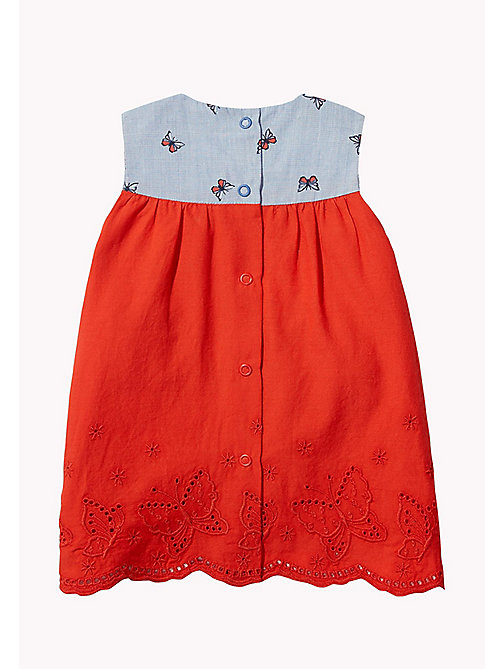 TOMMY HILFIGER Butterfly Baby Dress - BRIGHT COBALT - TOMMY HILFIGER Girls - detail image 1