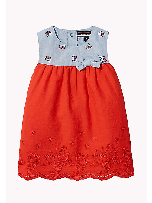 TOMMY HILFIGER Butterfly Baby Dress - BRIGHT COBALT - TOMMY HILFIGER Girls - main image