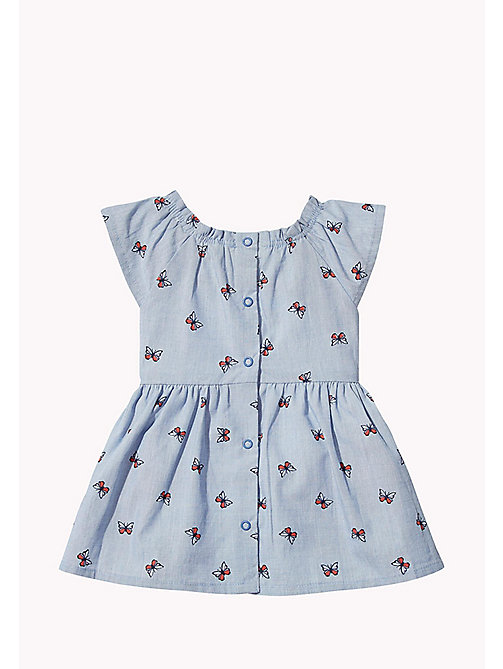 TOMMY HILFIGER Butterfly Print Baby Dress - BRIGHT COBALT - TOMMY HILFIGER Girls - detail image 1